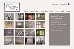 Henley Shutters website